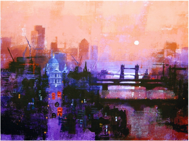 Colin Ruffell, London Daybreak. Print.